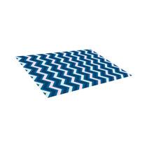 Alfombra / Tapete Modern Blue, Pink Chevron Geometric Decor