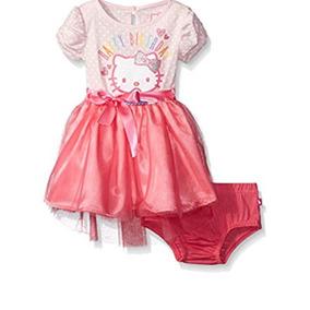 Hello Kitty Vestido Tutú Bebé Rosa Fiesta Baby Princesa