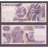 Billete De 50000 Pesos Cuauhtemoc