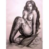 Dibujo A Lapiz Arte Fantastico Arte Original, Idd