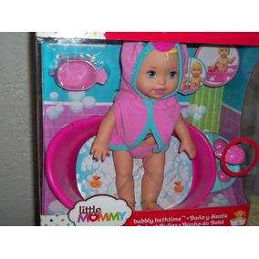 Boneca Little Mommy Hora Do Banho E Banheirinha E Acessório