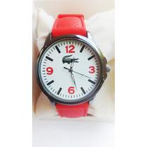 Relógio Lacoste Esportivo Feminino Pulseira Vermelha