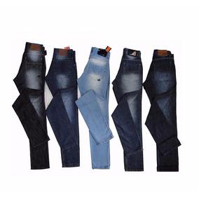 Kit 05 Calças Jeans Masculina Skinny Justa, Alta Qualidade!