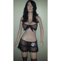 Hermoso Baby Doll Encaje Talla Ropa Intima Sexy