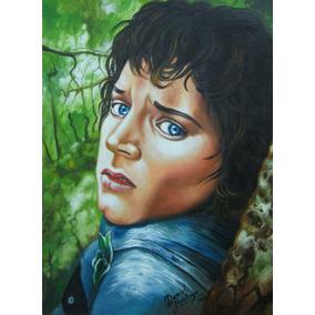 Pintura Al Oleo, Frodo *el Señor De Los Anillos*, Original.