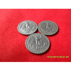 Lote 3 Quarters De Dollar 65/66/67 Cu Ni