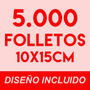 5000 Volantes / Folletos Full Color Doble Faz 150g. + Diseño