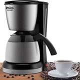 Cafeteira Philco Ph30 Thermo - Aco Escovado/preto 110v