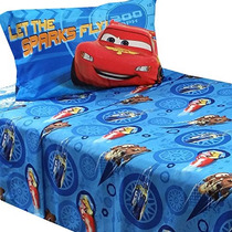 3pc Disney Cars Doble Hoja De Cama Set Rayo Mcqueen City Lim