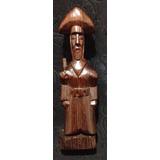 Lampião Escultura Cangaceiro Jacarandá Antiga 19cm