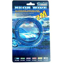 Cable De Luz Neon Caliente Azul De 2 Metros 12 Vcd Ot8