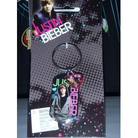 Justin Bieber Llavero Con Foto Encapsulado Corazon Plastico