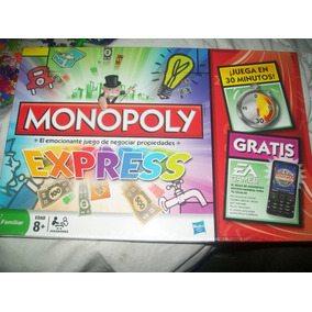 Gcg Juego Monopoly Express Marca Hasbro Retro