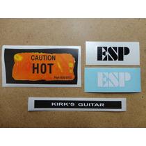 Stickers Guitarra Eléctrica Kirk Hammett Kh 2 Relic (set)