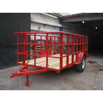 Remolque Multiusos Jaula Camiones Camionetas Cuatrimotos