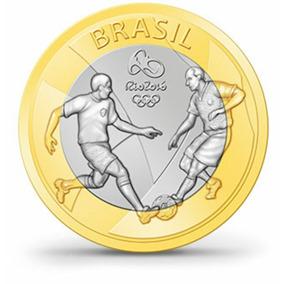 Moeda Olimpíada Rio 2016 ( Futebol )