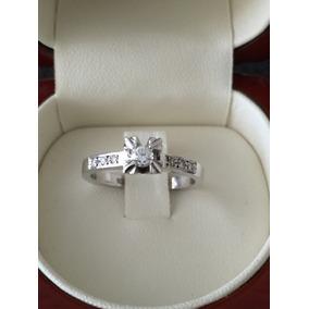 Anillo Diamante Solitario 49 Puntos 5 Grs Oro Blanco 18