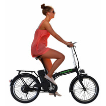 Bicicleta Eléctrica Plegable Bateria Litio R20 30km/h Msi