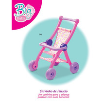 Carrinho De Boneca Para Menina Infantil Big Baby Divertoys