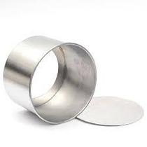Forma Redonda Mini Bolo Fundo Falso 10x10cm Alumínio