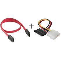 Combo Cable Adaptador Sata Datos + Poder Dvd Dvr Disco Pc
