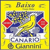 Encordoamento De Contra Baixo Canário Giannini 4 Cordas .040
