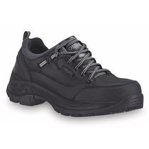 Zapatos Industriales Piel Negro Casquillo Acero Caballero