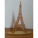 Centro Mesa Torre Eiffel Mdf Cru De 3 Mm 30 Cm Altura Festa