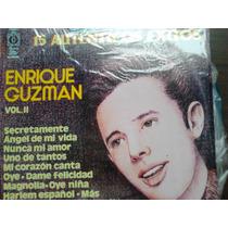 Disco Acetato De Enrique Guzman 15 Autenticos Exitos