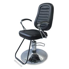 Cadeira Maquiagem Com Encosto Retrátil E Pistão Hidráulico
