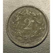 Swi001 Moneda Suiza 2 Rappen 1945 Xf Ayff
