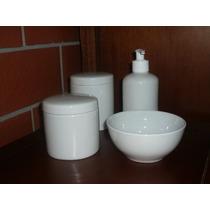 Kit Higiene Molhadeira Porcelana Tigela Bebê Jogo Pote Gel