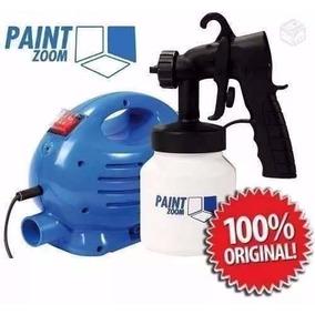 Pistola Pintura Paint Zoom Completa Compressor Portatil 110v