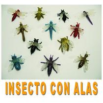 Juguete Miniatura Para Maquina Chiclera, Insecto Con Alas.
