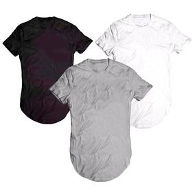 2b14a3919e3f1 Camiseta Lisa Oversized Swag Masculina Longline