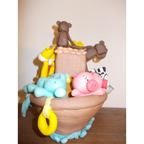 Arca De Noe En Porcelana Fria Para Tu Torta