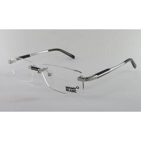 Armação Óculos Grau De Grau Sem Aro Mont Blanc Mb0349