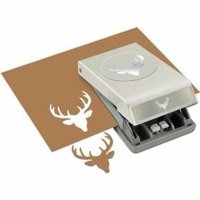 Scrapbook Perforadora Papel Venado Navidad Tarjeta Cartulina
