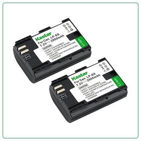 2 Baterias Lp-e6 Para Camara Canon Eos 6d 7d 5d 60d Mark Iii