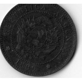 Moneda Un Centavo 1889 Argentina (patacón De Cobre)