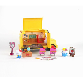 Camion Escolar Hello Kitty, School Bus 6 Personajes, 42 Pzs.