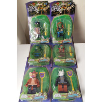 Kit Tartarugas Ninjasc/ 6 Bonecos Minecraft Som E Luz