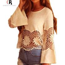 Blusa Calado A Crochet