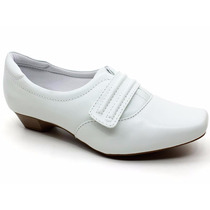 Sapato Branco Feminino Enfermagem Couro Neftali 3825 Pixolé