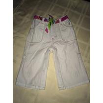 Pantalon Blanco (se Convierte En Short) 6 A 12 Meses Nautica