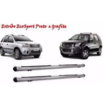 Estribo Lateral Ford Ecosport Grafite Completo Com Kit