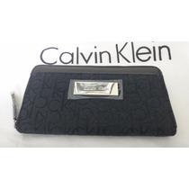 Carteira Calvin Klein Feminina Cor Preta 100% Original