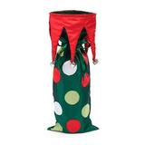 Botella Elf Lunar Del Vino Bolsa De Navidad Del Regalo De L