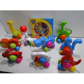 Novos 10 Brinquedos Didaticos Relogio Leão Girafa Foca Dino