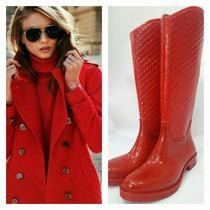 Botas De Lluvia Rojo Total !!!! Unicas !